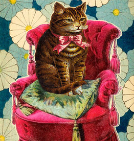 Madame Treacle Kaart groot 'On the red chair'