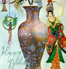 Madame Treacle Kaart groot 'The vase'