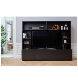 TV Wandkast Grenenhout - zwart