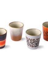 HK Living Set van 4 Ristretto mugs 70s