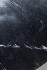 Marmeren eettafel Ø120 cm - zwart
