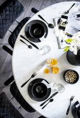 Marmeren eettafel Ø120 cm - wit