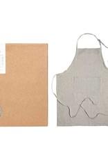 Original  Home Keukenschort van gerecycleerd katoen - grijs