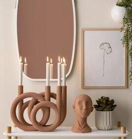 Kandelaar Rings - Terracotta