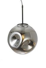 Hanglamp XL Geblazen Glas - grijs