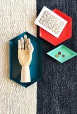 Casa Cubista Vloerkleed Colour Block 170 x 240 cm - Charcoal / Natural