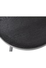 Salontafel Ø60 cm - Zwart grenenhout