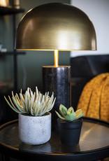 Tafellamp Mushroom - zwart marmer en goud