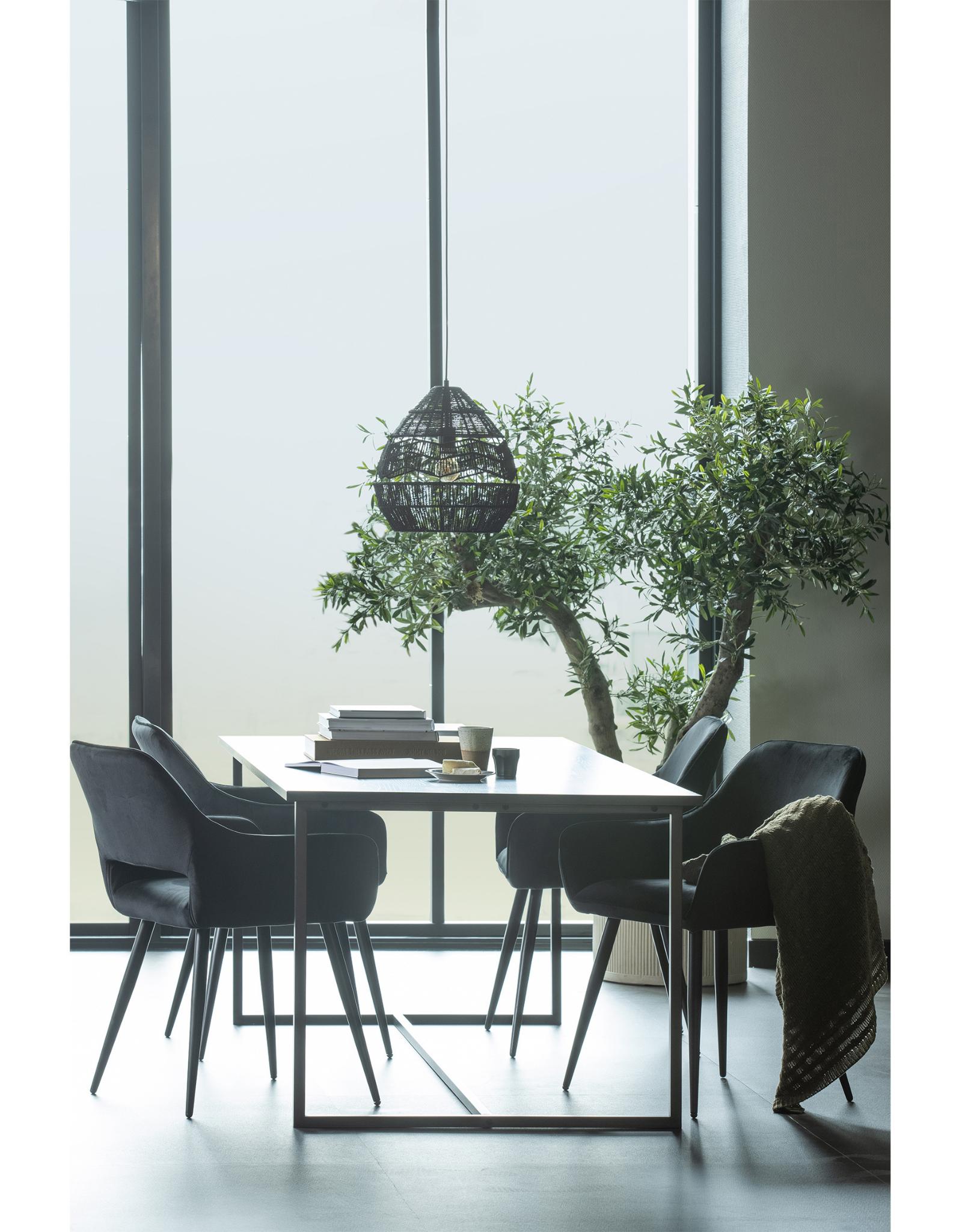 Eettafel 200 x 90 cm- Zwart Essenhout