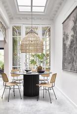 HK Living Pillar Dining Table Black - Ø140 cm