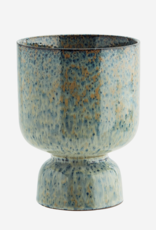 Madam Stoltz Bloempot op voet - Blue Glaze