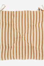 Madam Stoltz Stoelkussen - Yellow Stripes