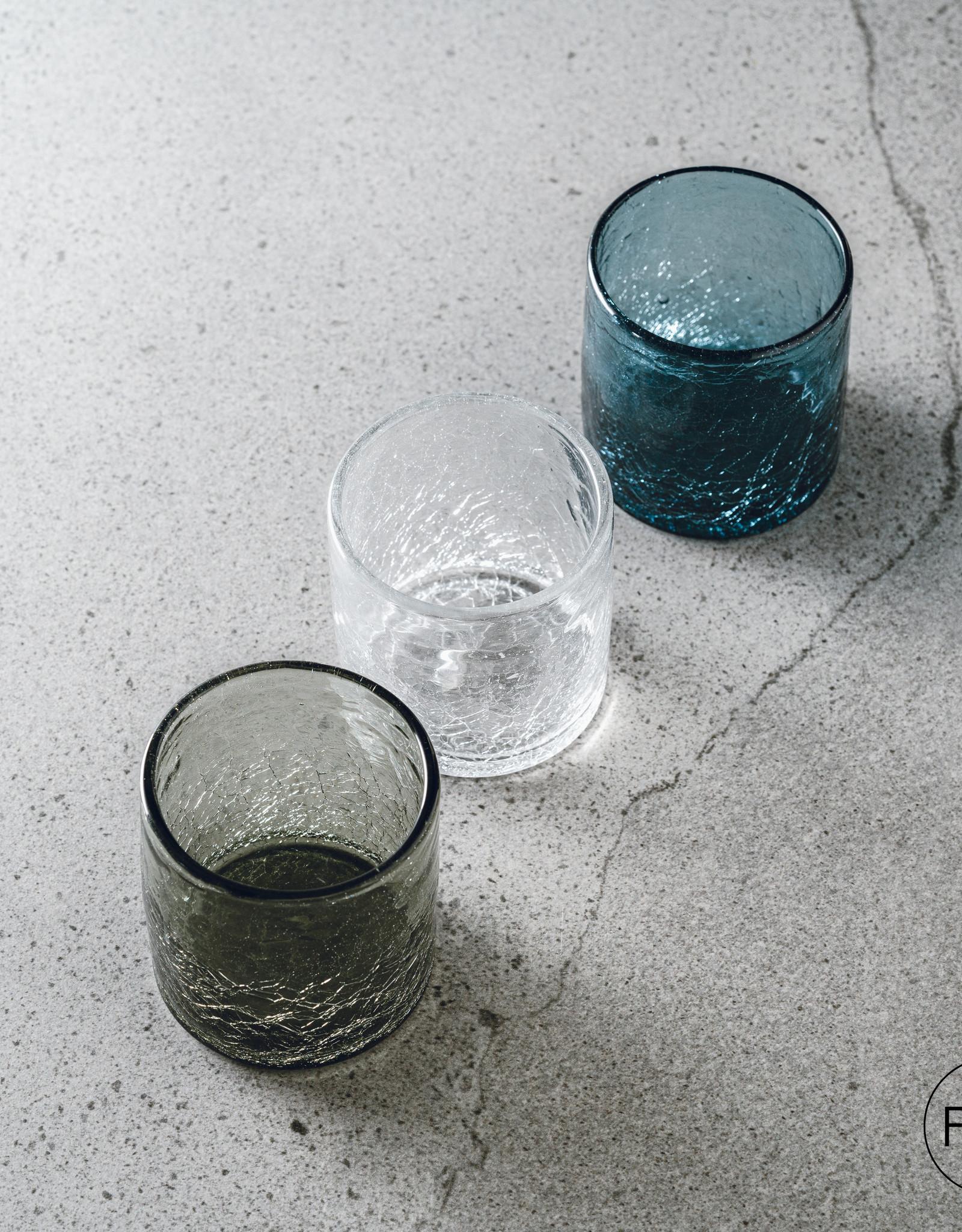 F2D Glas 22cl grey Crackle