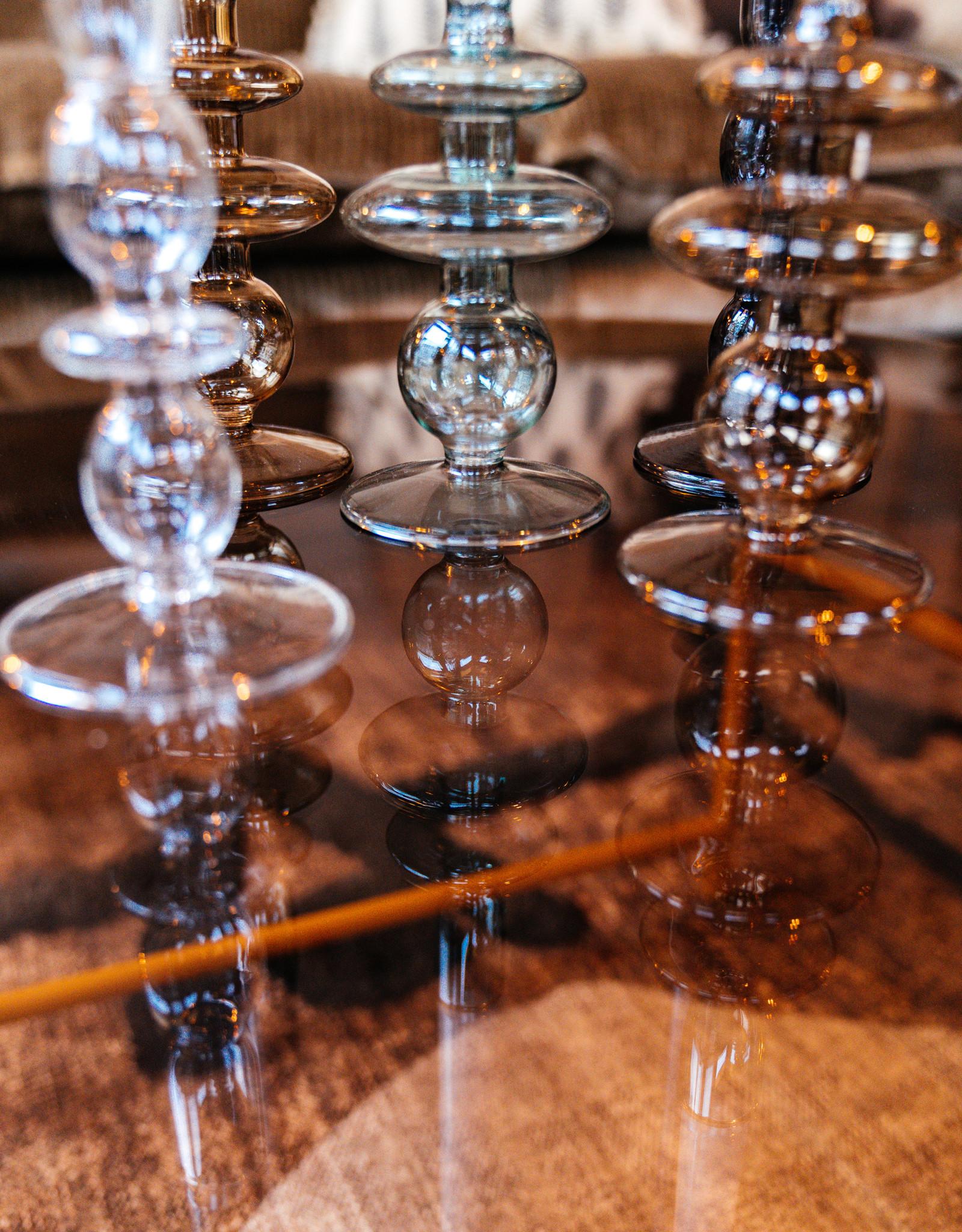 Kandelaar Glass Art Bubbles L - zwart