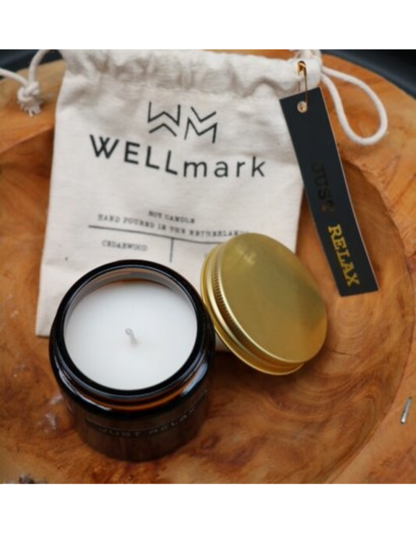 Wellmark Geurkaars Cedarwood (klein) - Let's Get Cosy