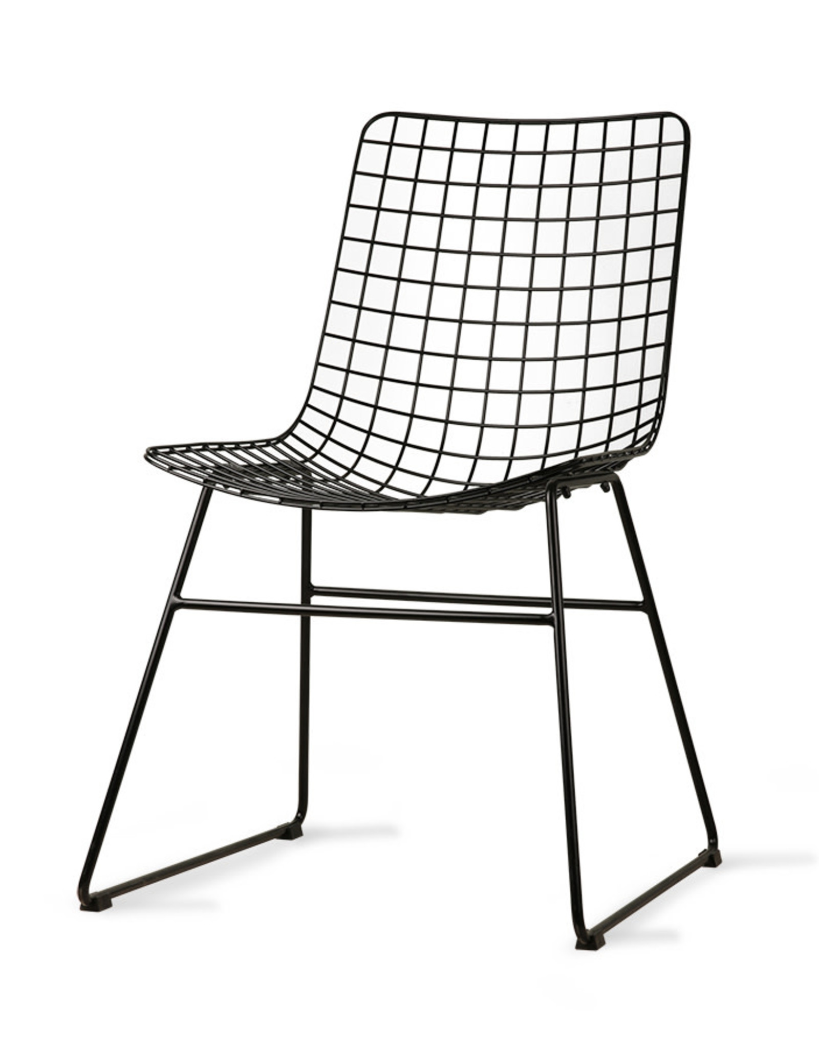 HK Living Metal Wire Chair - zwart
