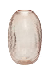 Hübsch Vaas Organic Glass - Pink H20 cm