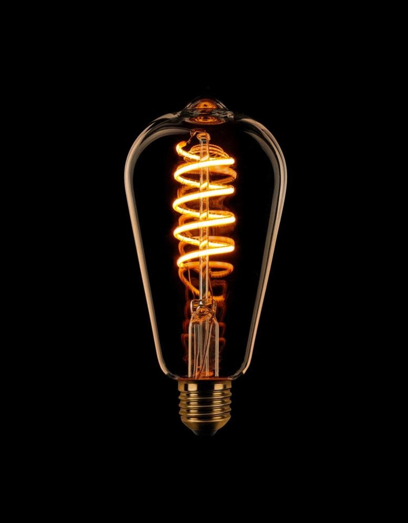 LED Lamp Edison filament spiraal - 3 stappen dimbaar - E27