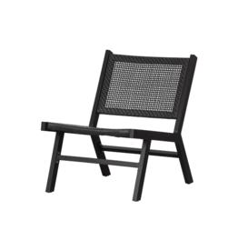 Outdoor Lounge Stoel - zwart