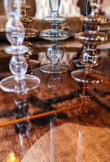 Kandelaar Art Glass Bubbles L - sand brown