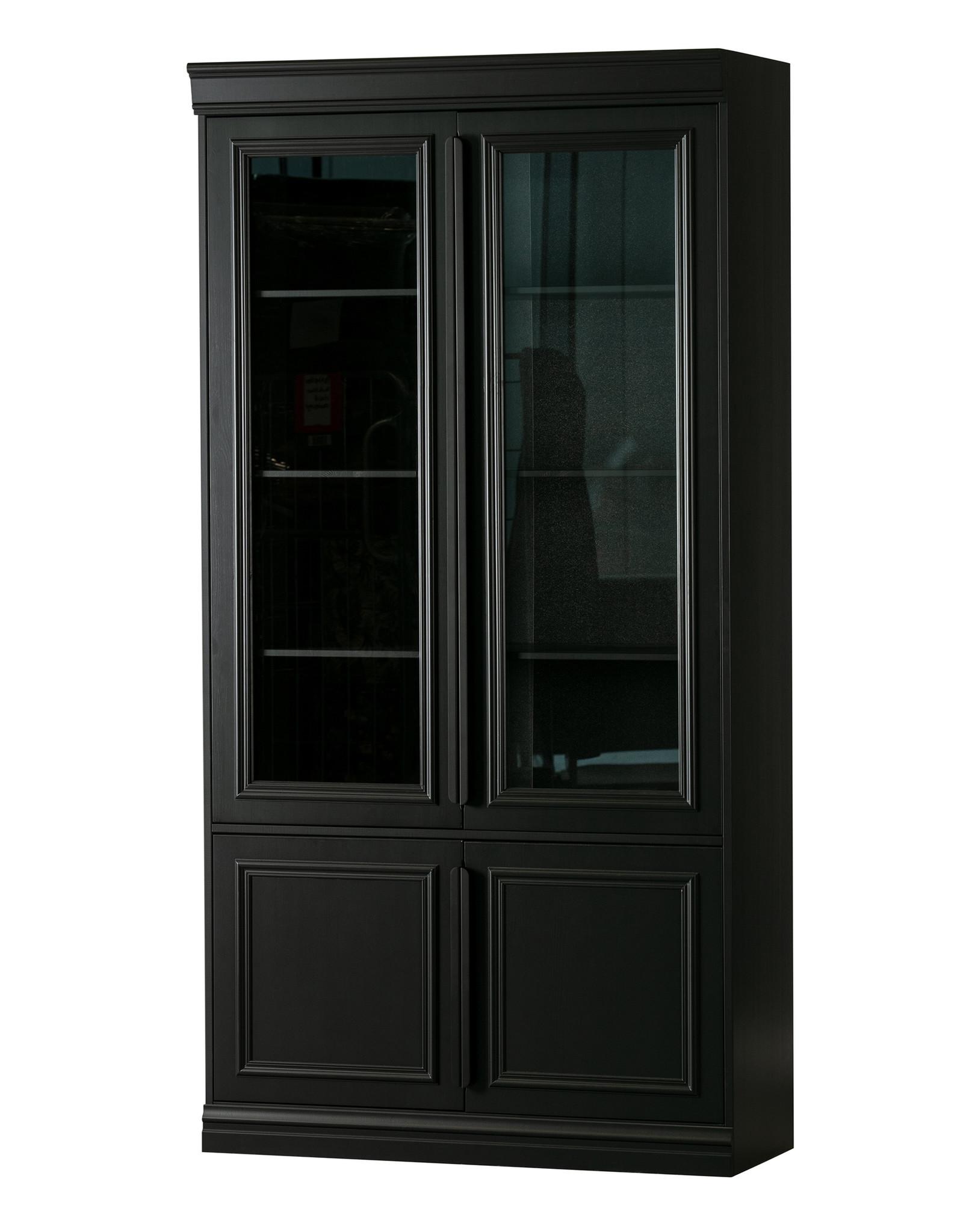 Vitrinekast Grenen - zwart