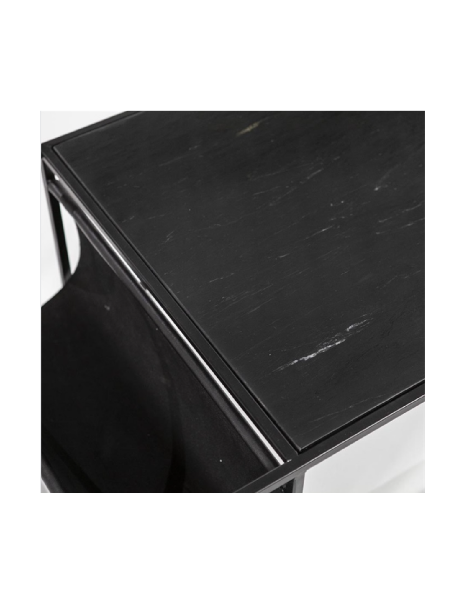 Salontafel Zwart Marmer 120 x 60 cm