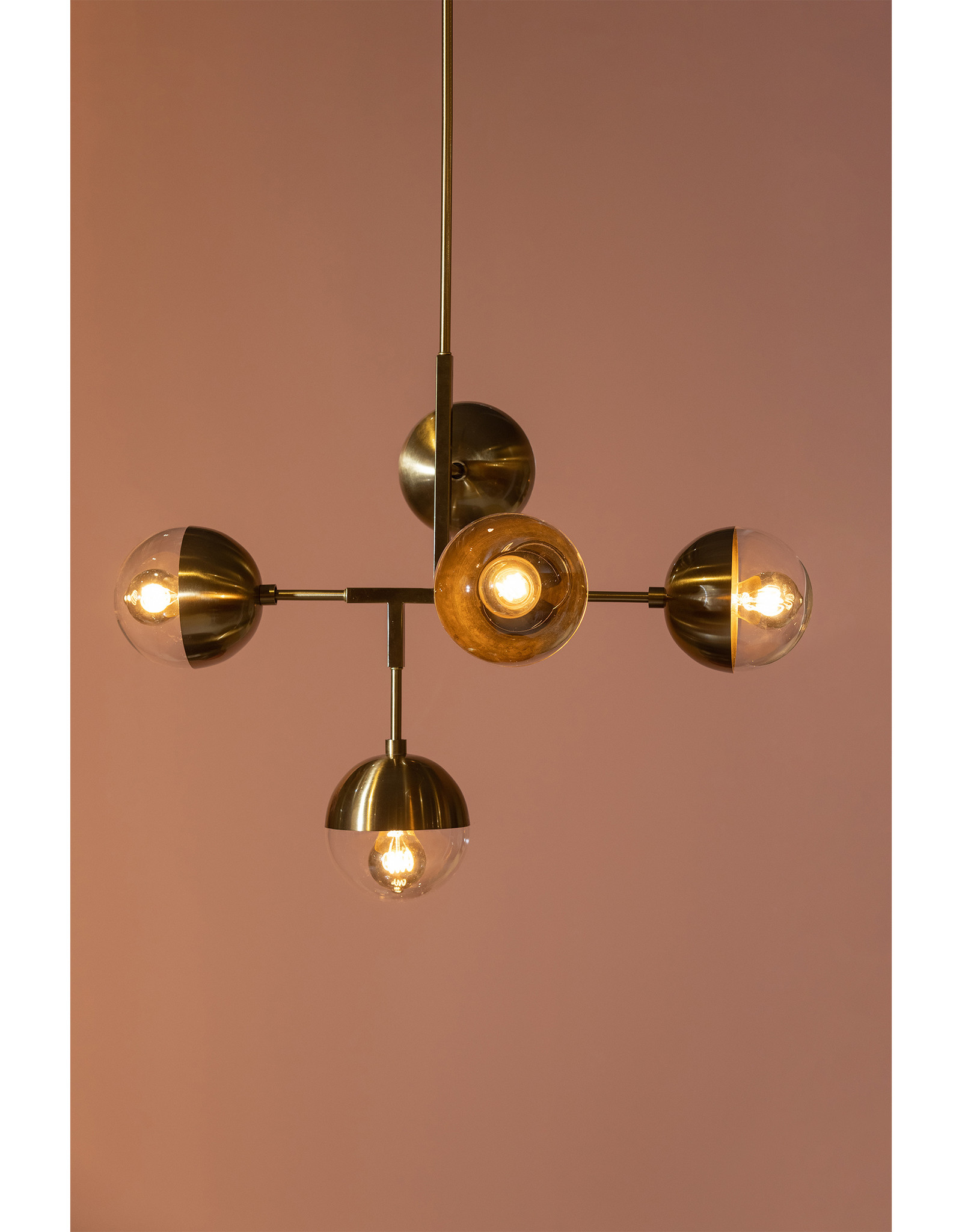 Hanglamp Orb - antique brass