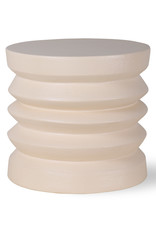 HK Living Bijzettafel Stoneware - cream