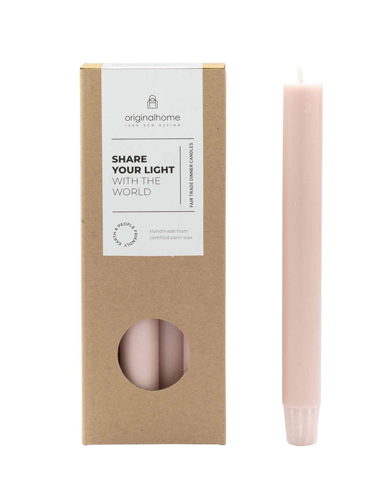 Original  Home Set van 10 eco lange kaarsen - blossom roze