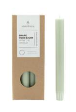 Original  Home Set van 10 eco lange kaarsen - groen