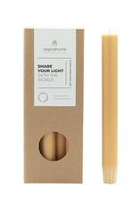 Original  Home Set van 10 eco lange kaarsen - Geel