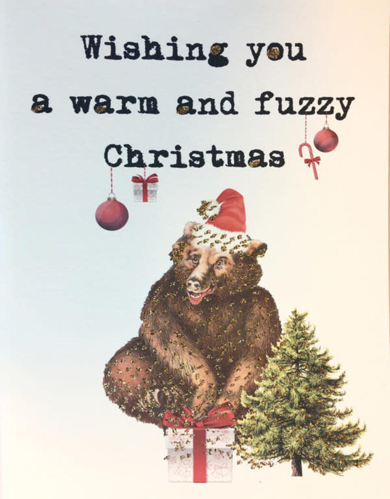 "vanilla fly Kaart A5 ""Fuzzy Christmas"" (incl. envelop)"