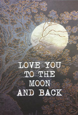 """vanilla fly Kaart A5 """"Love You To The Moon"""" (incl. envelop)"""