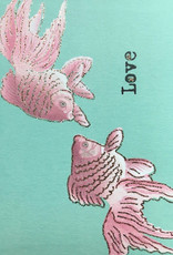 "vanilla fly Kaart ""Fish Love"" (incl. envelop)"