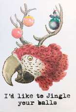 "vanilla fly Kaart ""Christmas Parrot"" I'd like to jingle (incl. envelop)"
