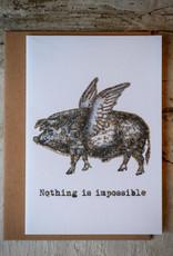 """vanilla fly Kaart """"Pigwings"""" (incl. envelop)"""