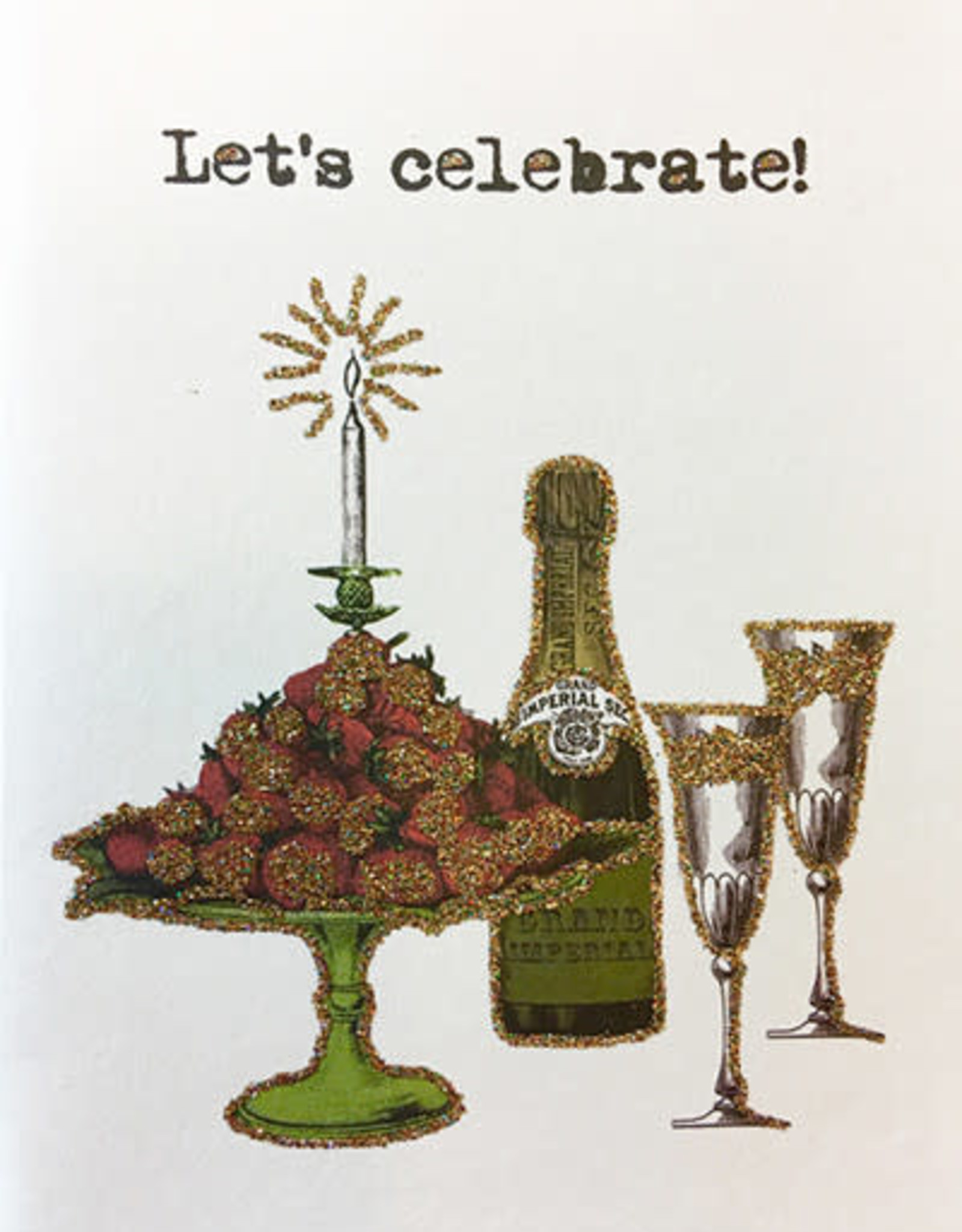 "vanilla fly Kaart ""Let's Celebrate"" (incl. envelop)"
