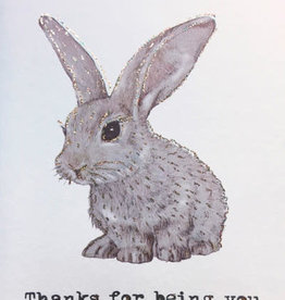 """vanilla fly Kaart """"Thanks For Being You"""" Rabbit (incl. envelop)"""