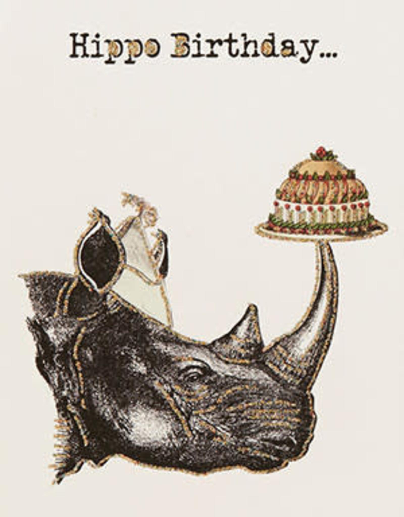 "vanilla fly Kaart "" Rino Birthday"" (incl. envelop)"