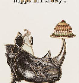 "vanilla fly Kaart ""Rino Birthday"" (incl. envelop)"