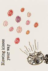 "vanilla fly Kaart ""Blowing Kisses"" (incl. envelop)"