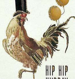 "vanilla fly Kaart ""Hip Hip Hurray"" (incl. envelop)"