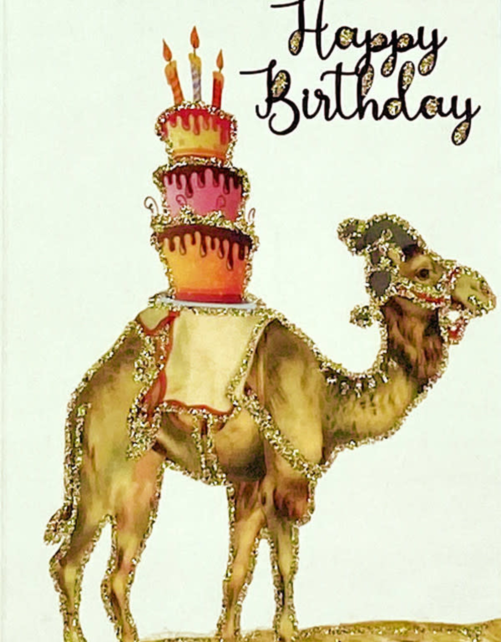 "vanilla fly Kaart ""Happy Birthday Dromedaris"""
