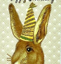 """vanilla fly Kaart """"Happy Birthday Bunny"""" (incl. envelop)"""