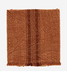 Keukenhanddoek striped burnt orange