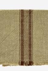 Keukenhanddoek striped khaki