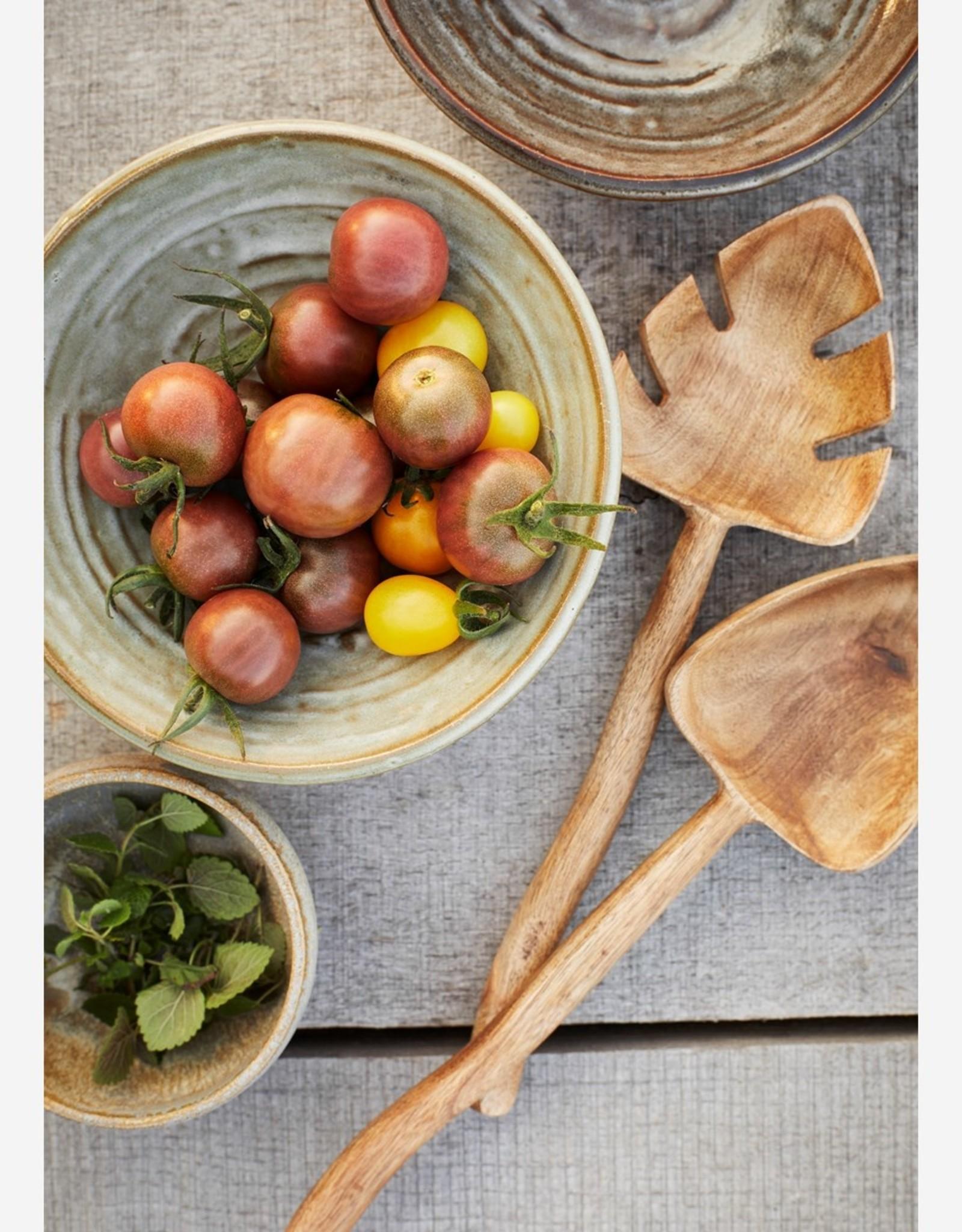 Salade schep set - mango hout
