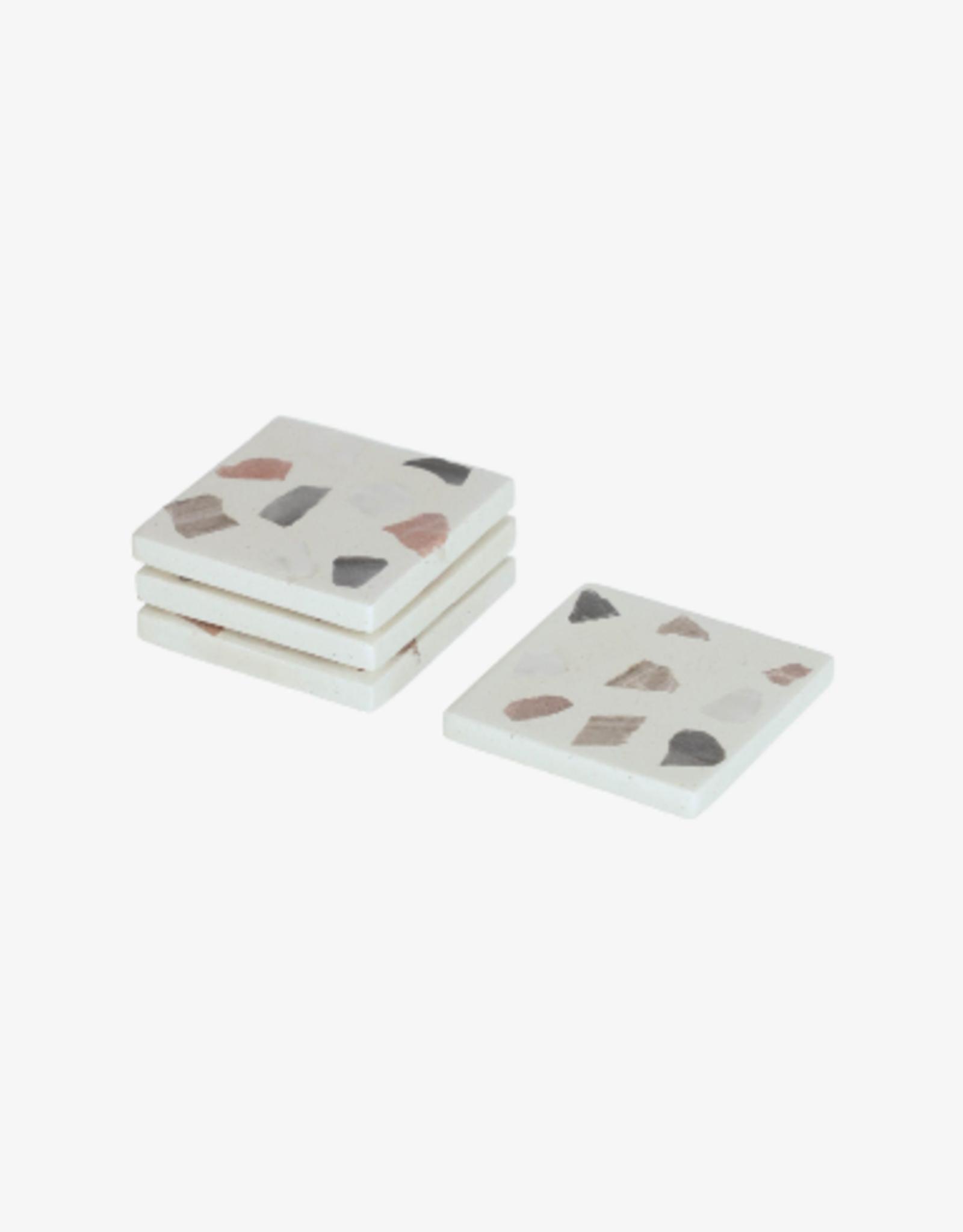 Set van 4 coasters/onderleggers - Terrazzo