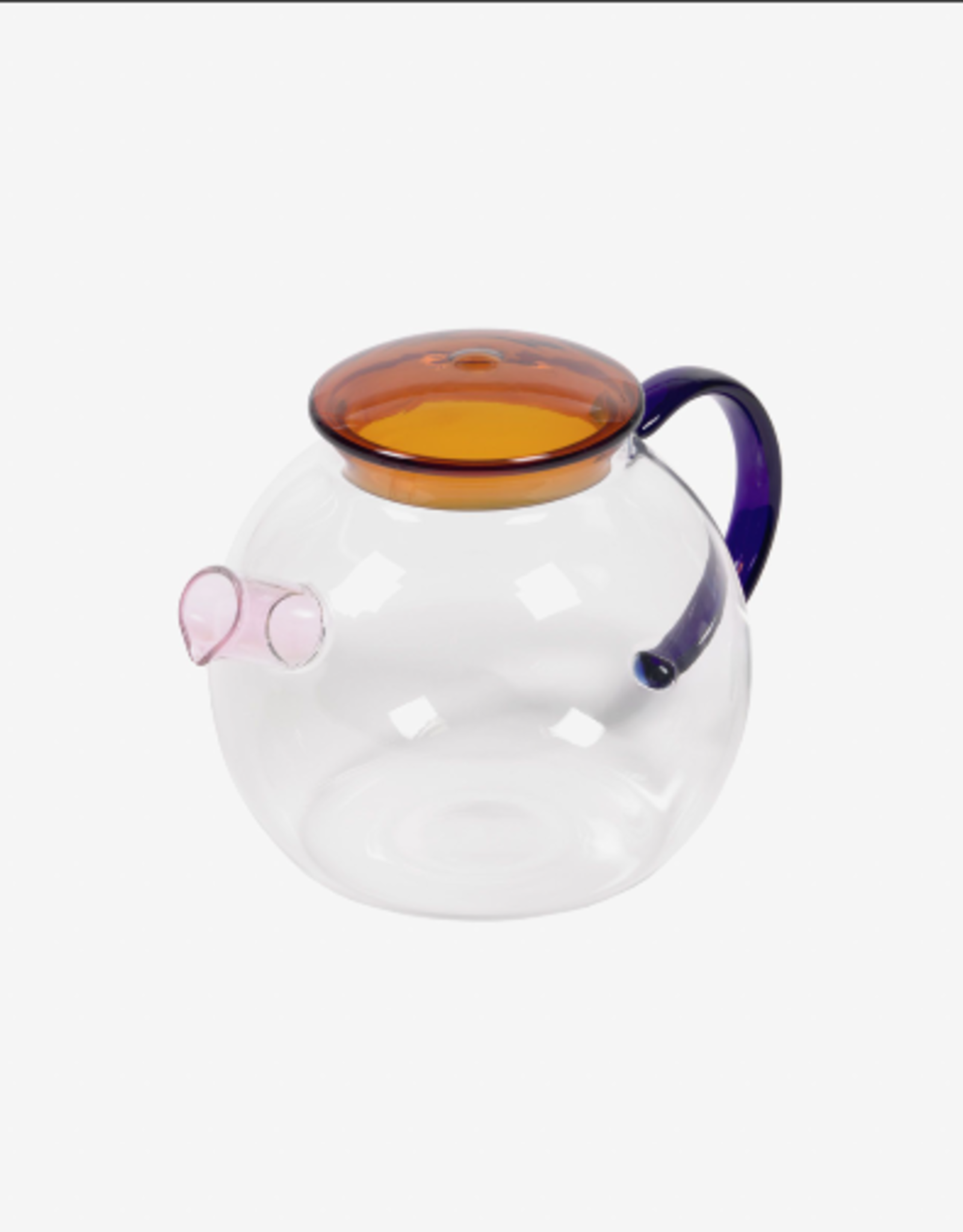 Theepot - coloured glass