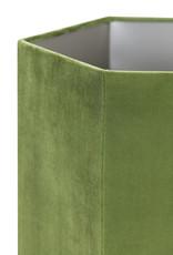 Lampenkap Hexagon Velvet H30 cm - Olive green